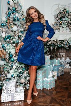 Нарядное синее платье Open-Style