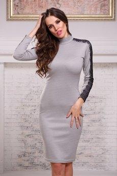 Платье миди с кружевом на рукавах Angela Ricci