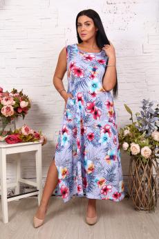 Свободный сарафан с цветами Натали