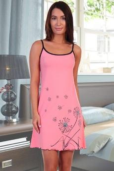 Сорочка на бретельках персикового цвета Натали