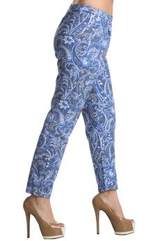 Голубые хлопковые брюки ElenaTex